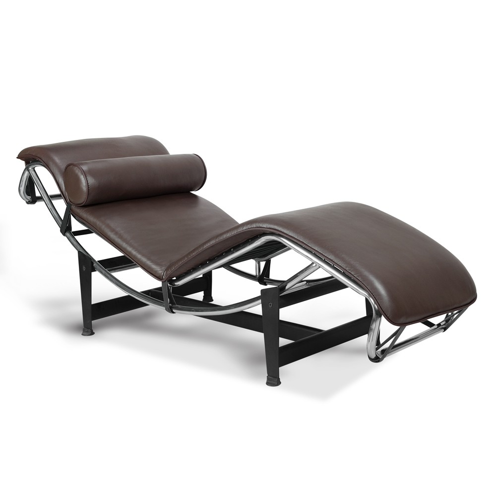 Ordinaire LC4 Chaise Lounge   Premium Brown Top Grain Leather