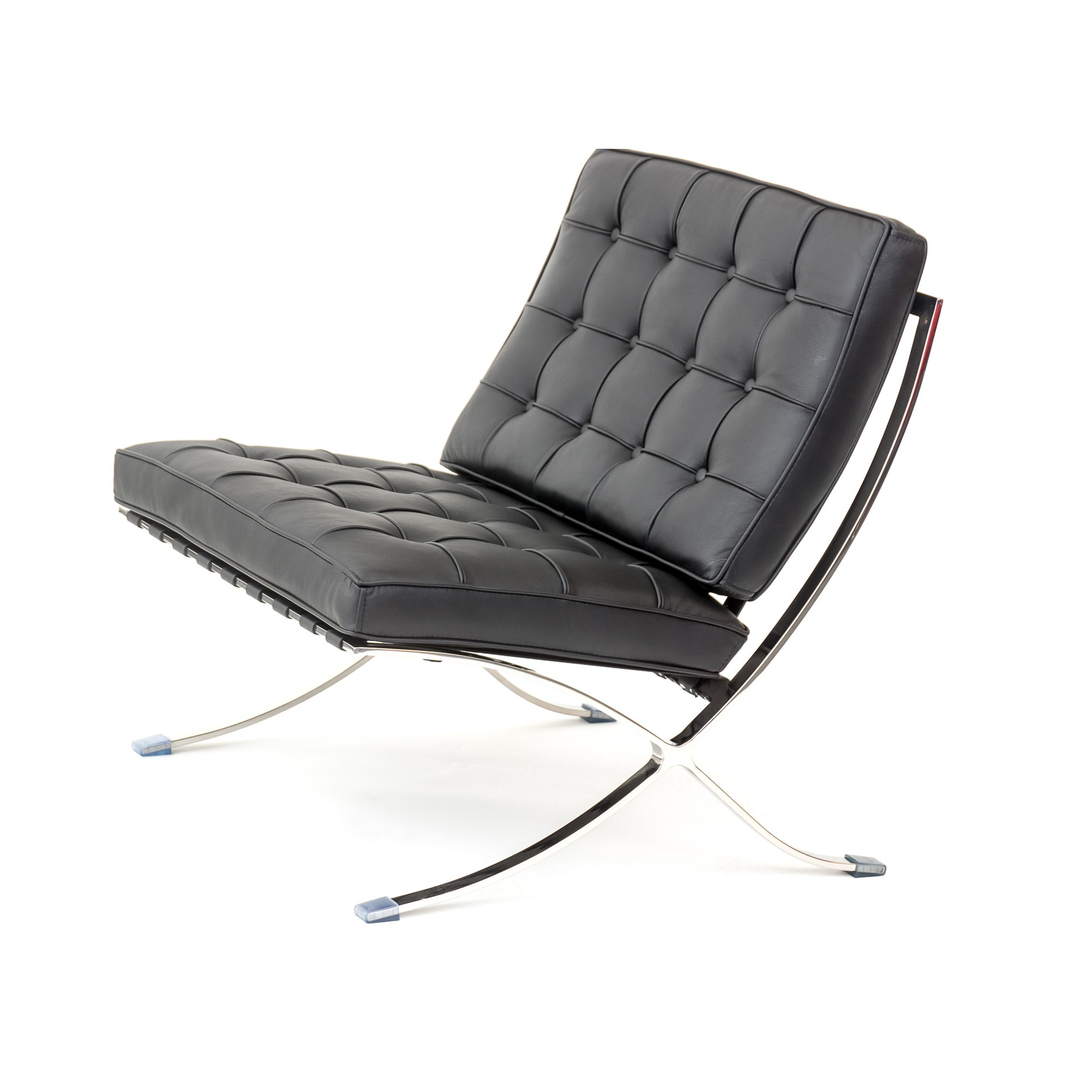 Barcelona Style Premium Lounge Chair And Black Aniline Leather