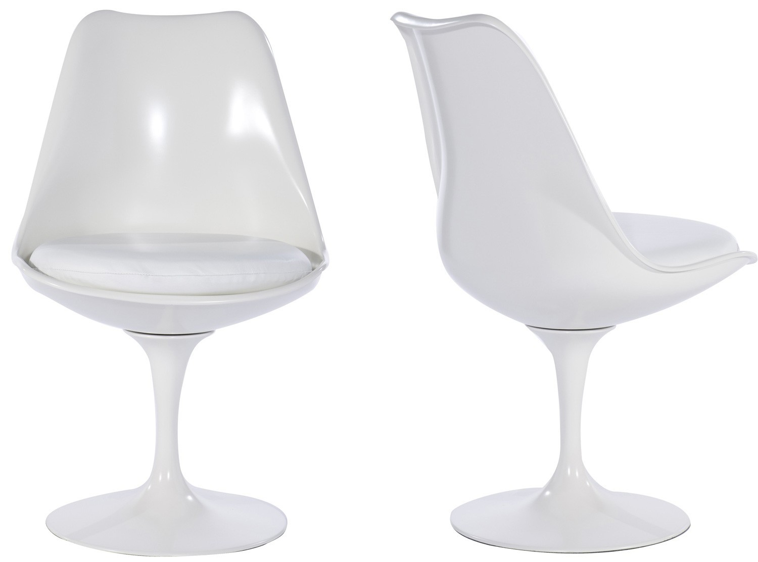 Tulip Chair - Molded ABS Plastic-White