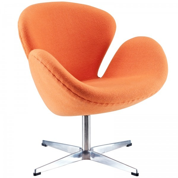 Swan Chair - Orange Wool