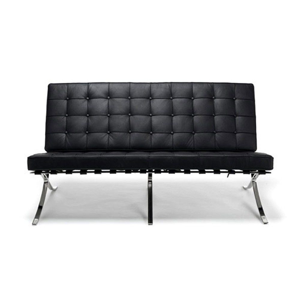 Premium Loveseat - Top Grain Leather-Black