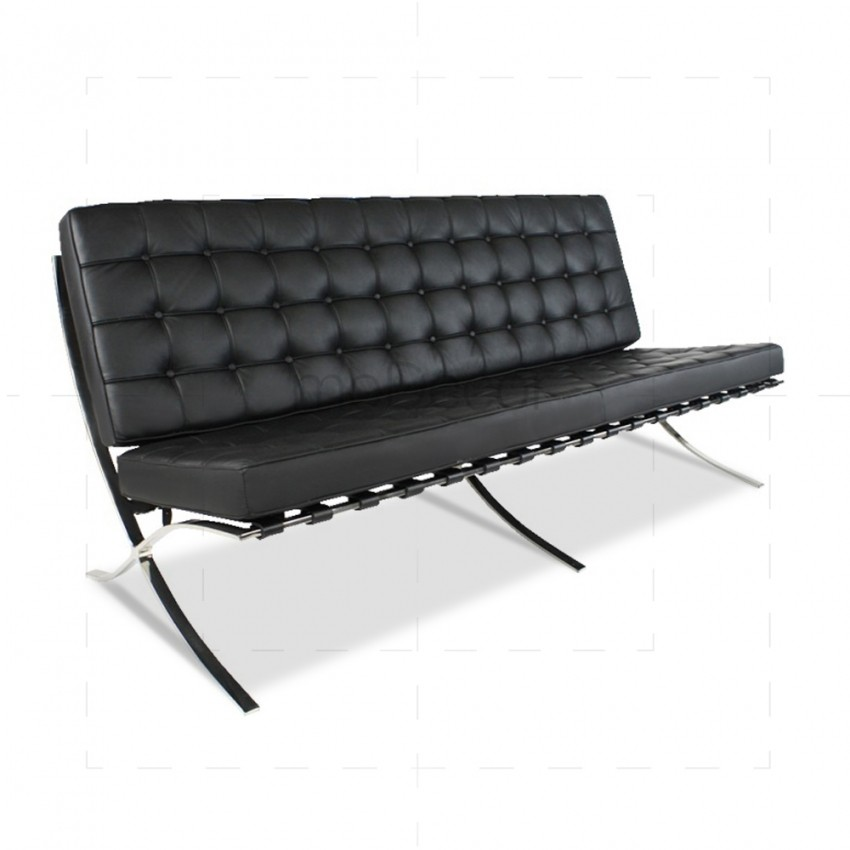 Premium Sofa - Black Top Grain Leather