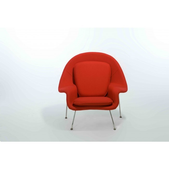 Womb Chair and Ottoman - Premium Cashmere Wool-Red Wool